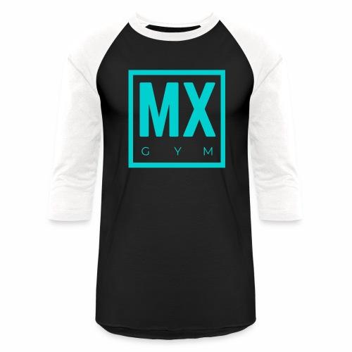 MX Gym Minimal Logo 2 - Unisex Baseball T-Shirt