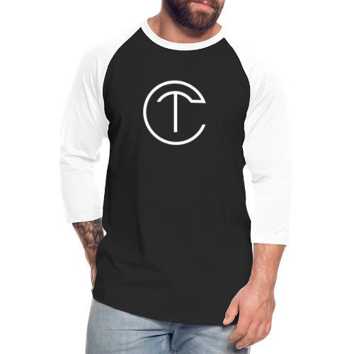 Design with white logo - Unisex Baseball T-Shirt