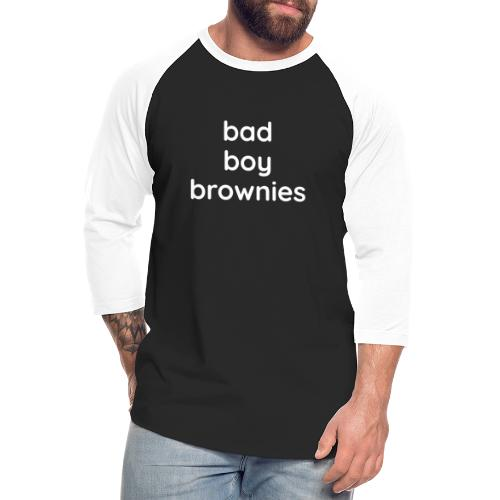 bad boy brownies - Unisex Baseball T-Shirt