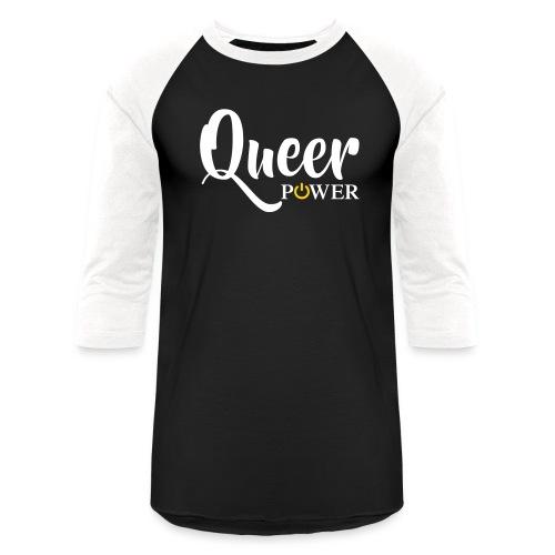 Queer Power T-Shirt 04 - Unisex Baseball T-Shirt