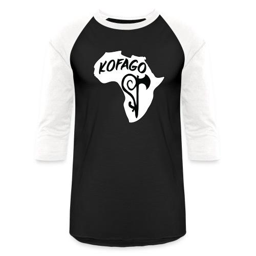 Kofago Logo Inverted - Unisex Baseball T-Shirt