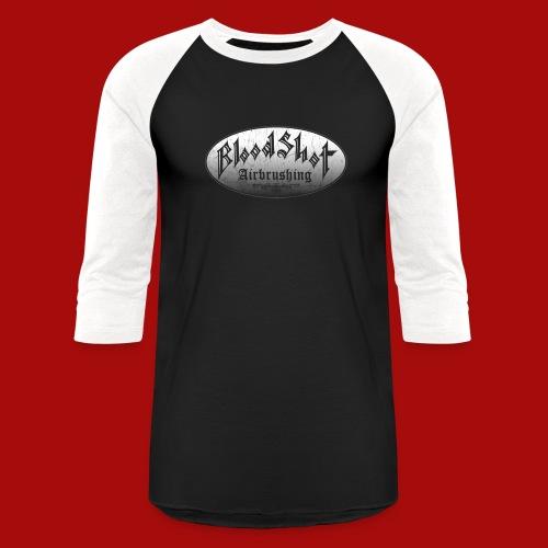 BloodShot Airbrushing Logo - Unisex Baseball T-Shirt