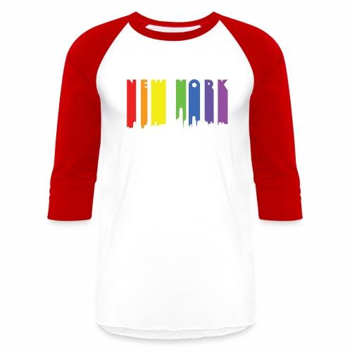 New York design Rainbow - Baseball T-Shirt