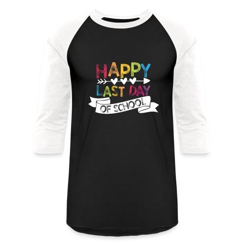 Happy Last Day of School Stamps Teacher T-Shirts - Unisex Baseball T-Shirt