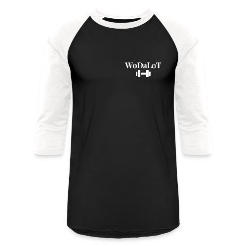 WoDaLoT white logo - Unisex Baseball T-Shirt