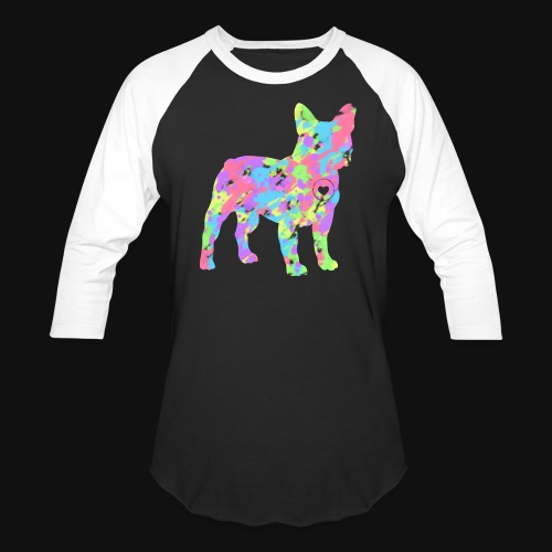Frenchie love splatter - Baseball T-Shirt
