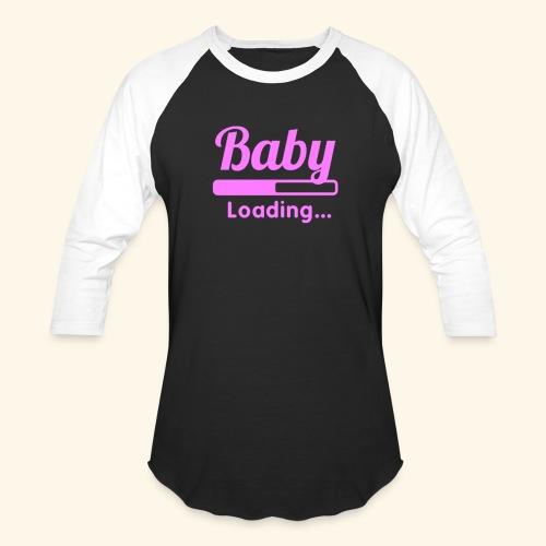 Pink Baby Loading - Baseball T-Shirt