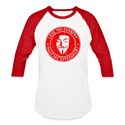 red love thy country - Baseball T-Shirt