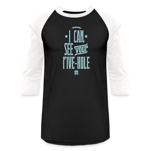 FIVE HOLE - Unisex Baseball T-Shirt