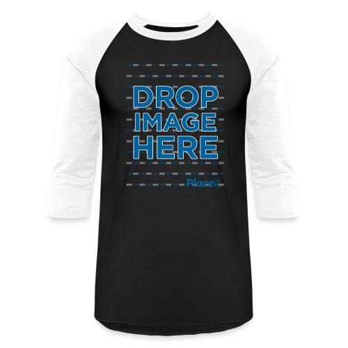 DROP IMAGE HERE - Placeit Design - Unisex Baseball T-Shirt