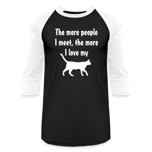 I love my cat - Baseball T-Shirt