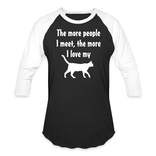 I love my cat - Unisex Baseball T-Shirt
