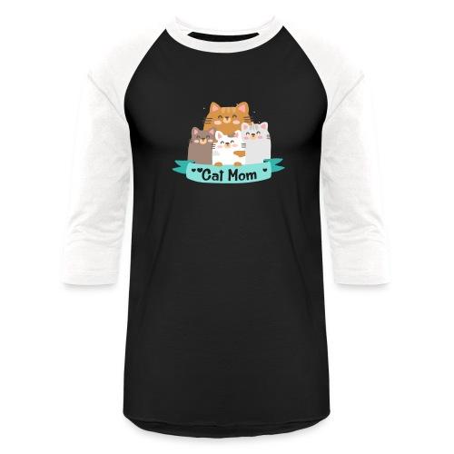 Cat MOM, Cat Mother, Cat Mum, Mother's Day - Baseball T-Shirt
