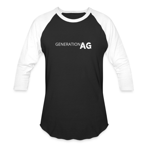 Generation Ag White - Unisex Baseball T-Shirt