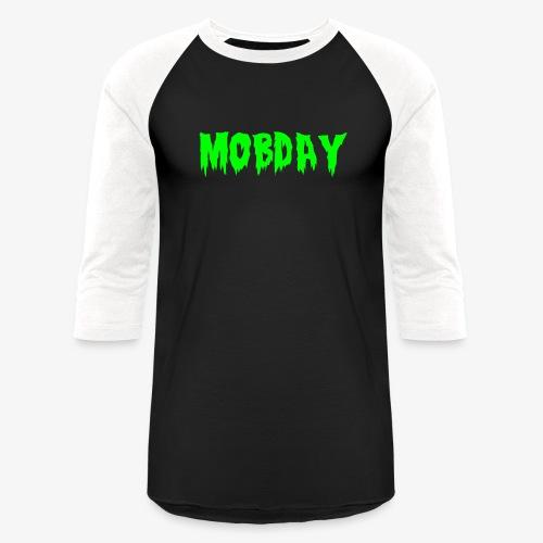 Mobday Toxic Horror Logo - Unisex Baseball T-Shirt