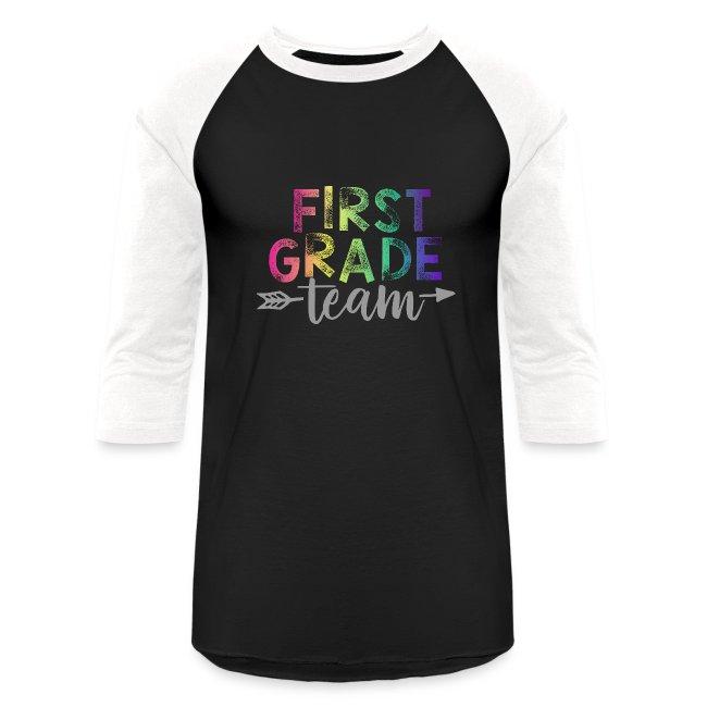First Grade Team Teacher T-Shirts Rainbow