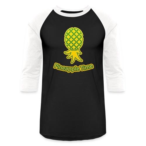 Swingers - Pineapple Time - Transparent Background - Unisex Baseball T-Shirt