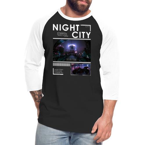Night City Japan Town - Unisex Baseball T-Shirt