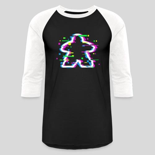 Glitched Meeple - Baseball T-Shirt