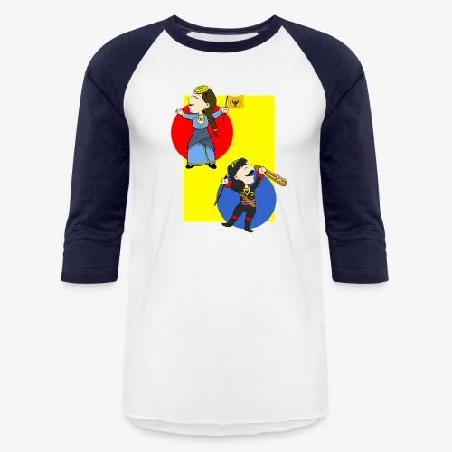 Cartoon - Pontios/lyra & Pontia/flag - Baseball T-Shirt