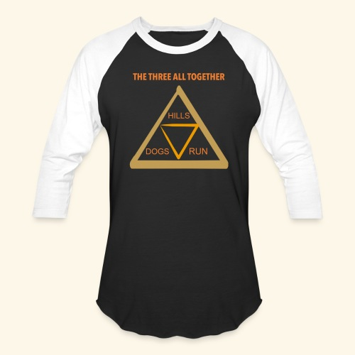 Run4Dogs Triangle - Unisex Baseball T-Shirt
