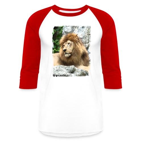 Lion On Rocks - Unisex Baseball T-Shirt
