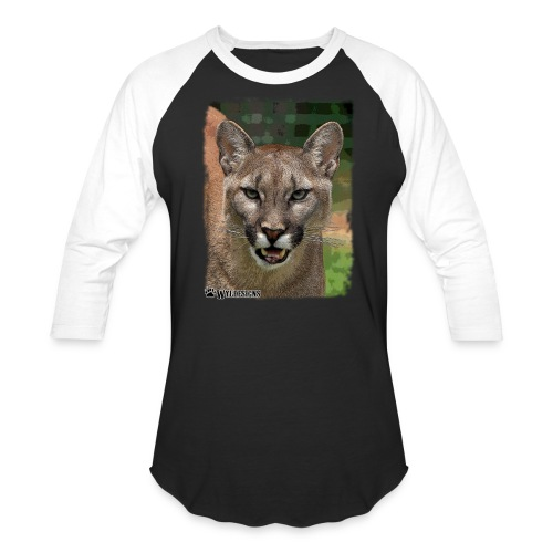 Cougar Stare - Unisex Baseball T-Shirt