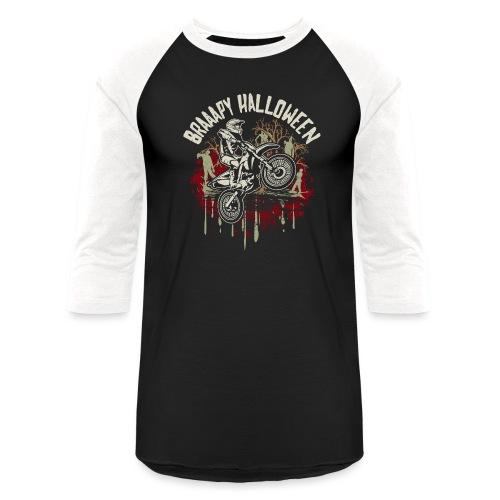 Dirt Bike Happy Halloween - Baseball T-Shirt