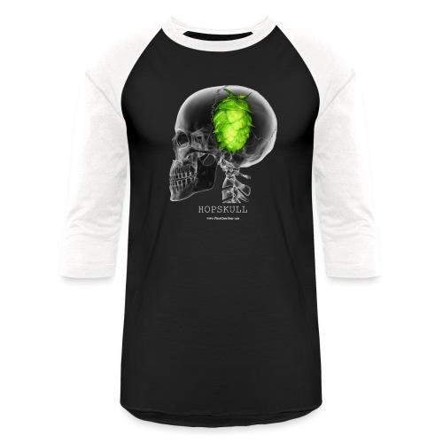 HOPSKULL T-Shirt (Double Sided) - Unisex Baseball T-Shirt