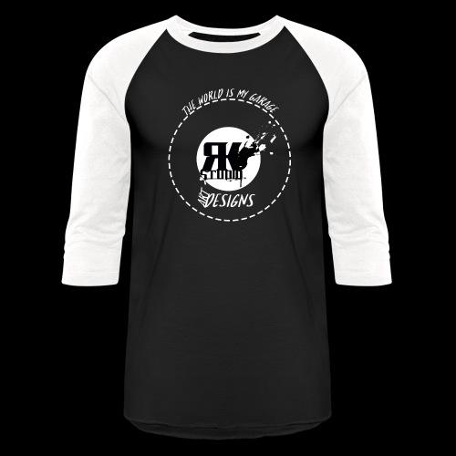 The World is My Garage - Unisex Baseball T-Shirt
