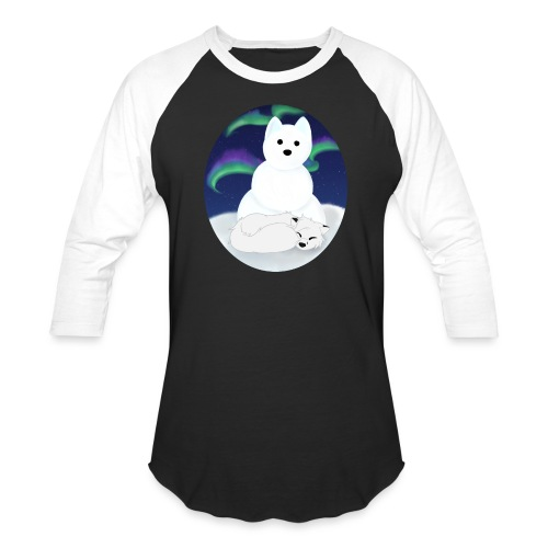 Arctic Aurora - Unisex Baseball T-Shirt
