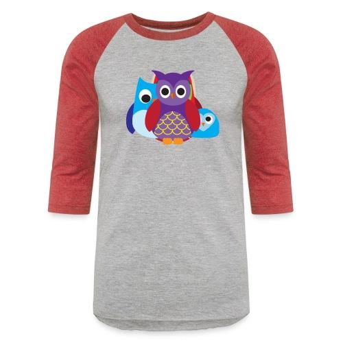 Cute Owls Eyes - Baseball T-Shirt