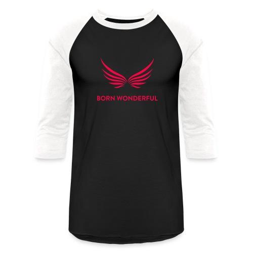 Red Born Wonderful Logo - Baseball T-Shirt