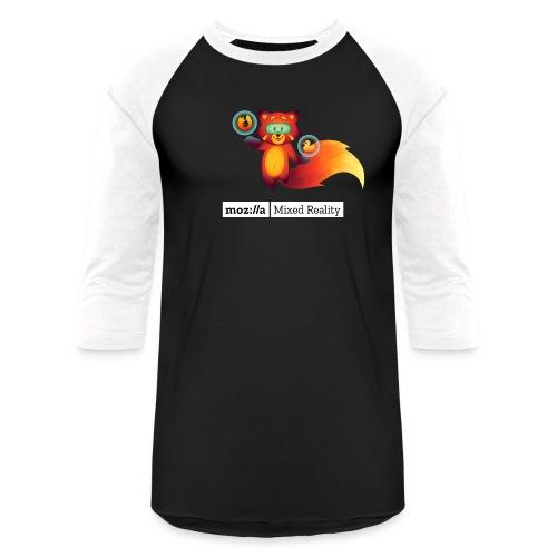 Foxr Floating (white MR logo) - Unisex Baseball T-Shirt