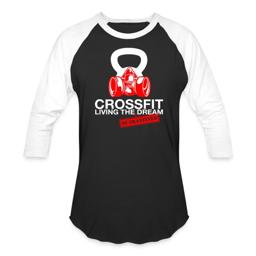 CROSSFIT LTQD - WHITE - Unisex Baseball T-Shirt
