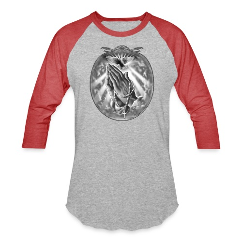 Praying Hands by RollinLow - Baseball T-Shirt