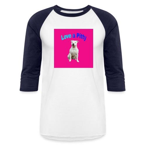 Pink Pit Bull - Baseball T-Shirt