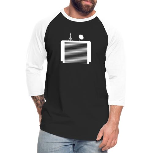 TechGarage White Logo - Unisex Baseball T-Shirt