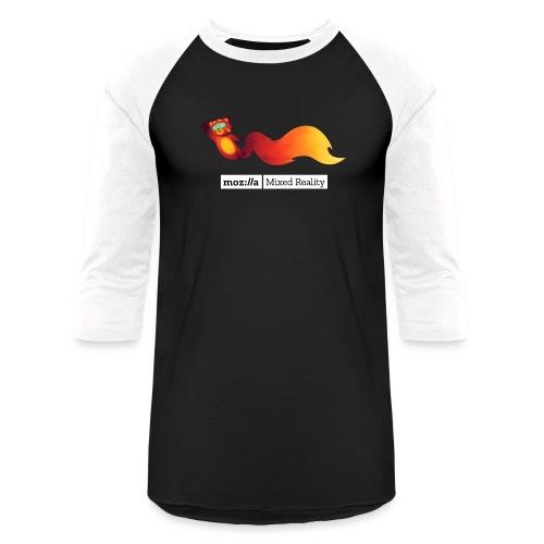 Foxr Flying (white MR logo) - Baseball T-Shirt