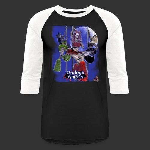 Undead Angels: Pole Dance Trio Full Moon - Unisex Baseball T-Shirt