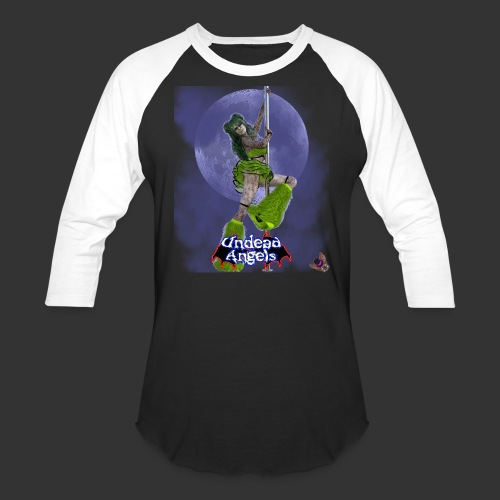 Undead Angels: Undead Dancer Emerald Full Moon - Unisex Baseball T-Shirt