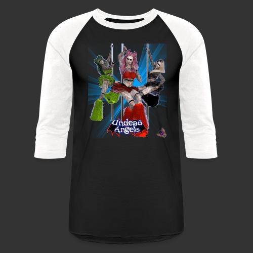 Undead Angels: Pole Dance Trio Spotlight - Unisex Baseball T-Shirt