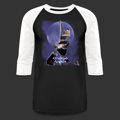 Undead Angels: Undead Dancer Onyx Full Moon - Unisex Baseball T-Shirt