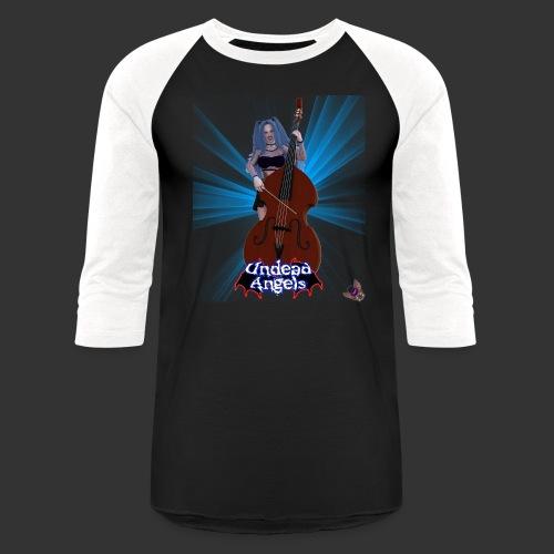 Undead Angels: Vampire Bassist Ashley Spotlight - Unisex Baseball T-Shirt