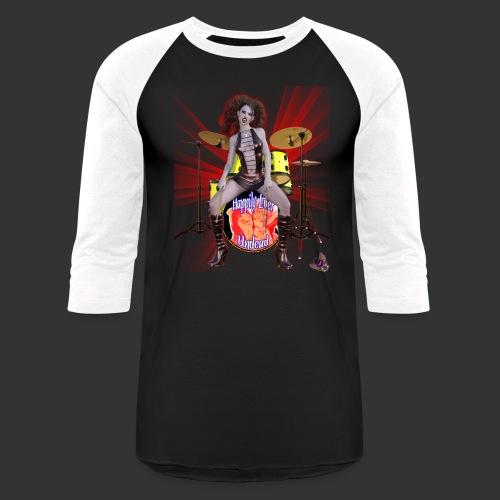 Happily Ever Undead: Bella Bloodlust Drummer - Unisex Baseball T-Shirt