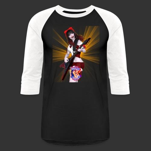 Happily Ever Undead: Crimson Snow Guitarist - Unisex Baseball T-Shirt