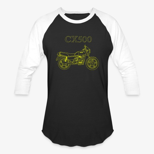 CX500 line drawing - Baseball T-Shirt