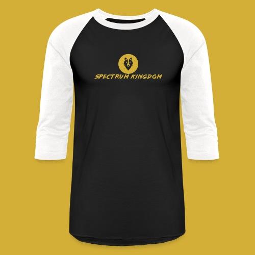 Spectrum Kingdom Gold Logo - Unisex Baseball T-Shirt