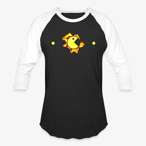 Pac-Man Design - Baseball T-Shirt