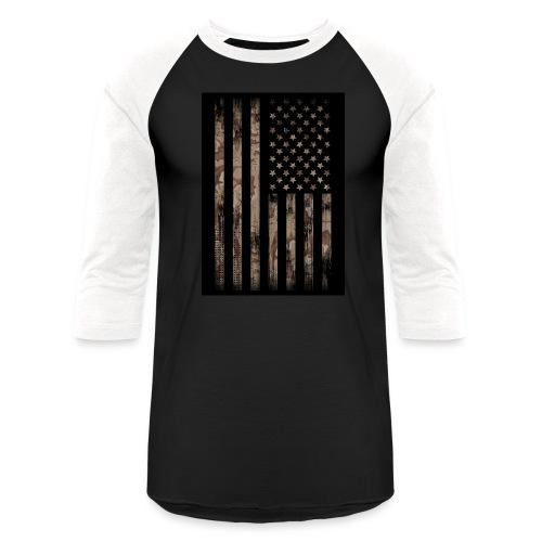 Camo Desert copy - Baseball T-Shirt